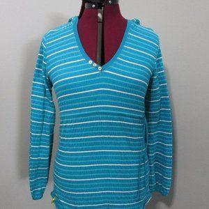 LOLE Pullover Hooded V neck Womens Top Medium